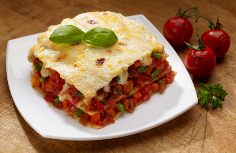 Spice Trail Vegetable Lasagna for packaging