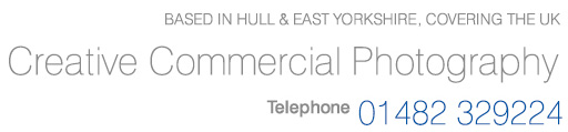 Creative Commercial Photography based in Hull, East Yorkshire - Telephone 01482 329224